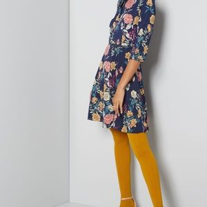 Liza Luxe Floral Print Long Sleeve Dress with tie